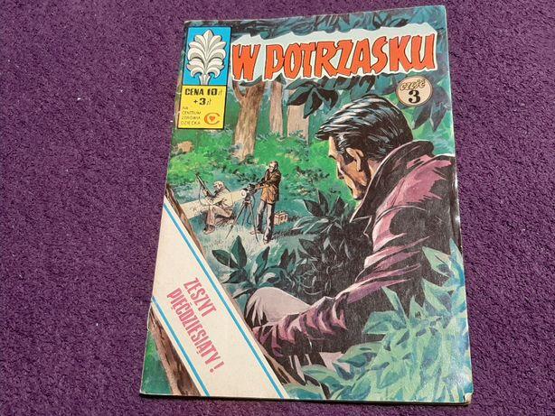"""Komiks Kapitan Żbik """"W potrzasku"""" część 3 wyd.I 1977 r."""