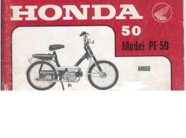 Manual Técnico Amarelo ou PartList Honda PF50 Amigo,R,Novio Vermelho