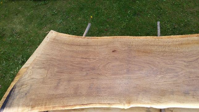 deska dębowa bal dąb monolit na blat stół live edge tarcica 60 cm szer