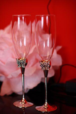 Комплект весільних бокалів Elisey Метелики Свадебные бокалы
