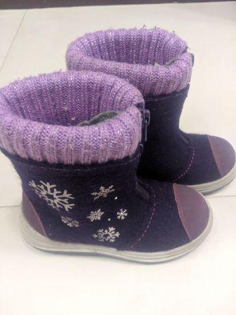 Валенки Котофей фиолетовые снежинка, р.29 (модель 367111-42)