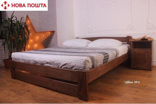 Деревянная кровать полуторная 140х200 есть в наличии !ЭКО