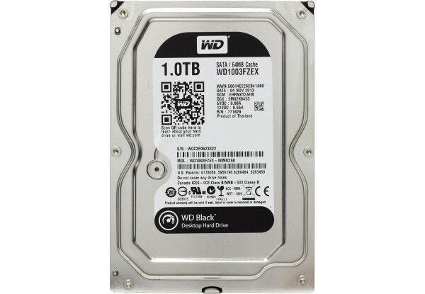 Жесткий диск HDD SATA 1.0TB WD Black 7200rpm 64MB (WD1003FZEX) Refurbi