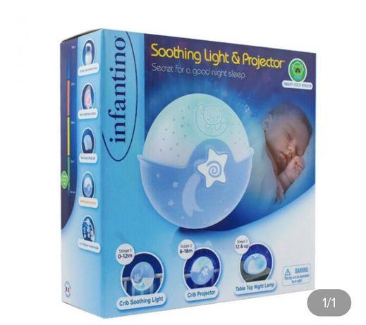 Детский светильник ночник Infantino Спокойные сны Голубой!