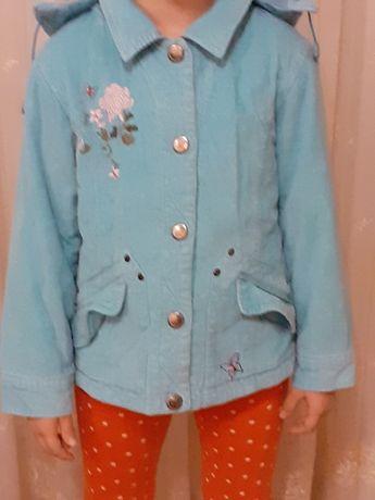 kurtka dziewczęca dla dziewczynki przejściowa z kapturem