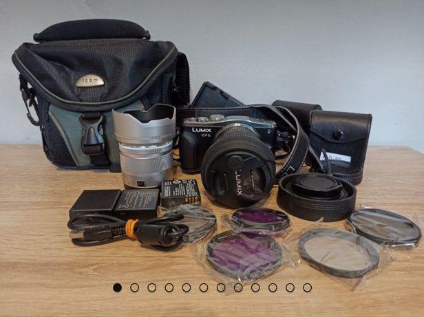 Aparat Panasonic Lumix GF6 + obiektyw + dodatki