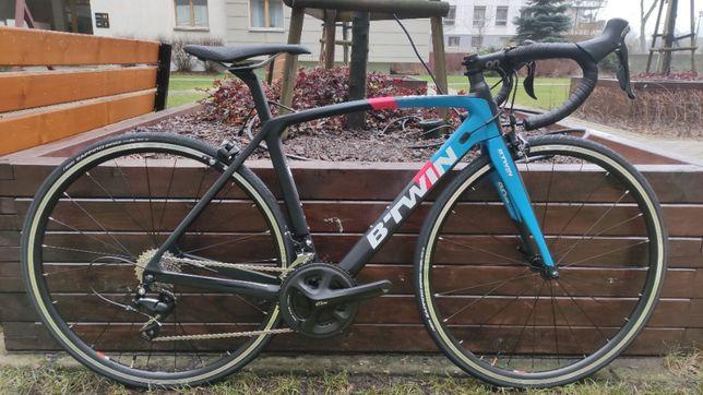 Karbonowy nowy rower szosowy BTWIN ULTRA 900 CF rozmiar XS (154-165cm)