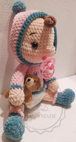 Dzidzia bobas lalka Karolinka handmade szydełko