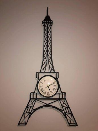 Zegar ścienny wieża Eiffla