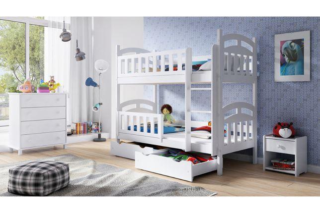 Łóżko piętrowe drewniane 2 osobowe Nati - Meble Bogart