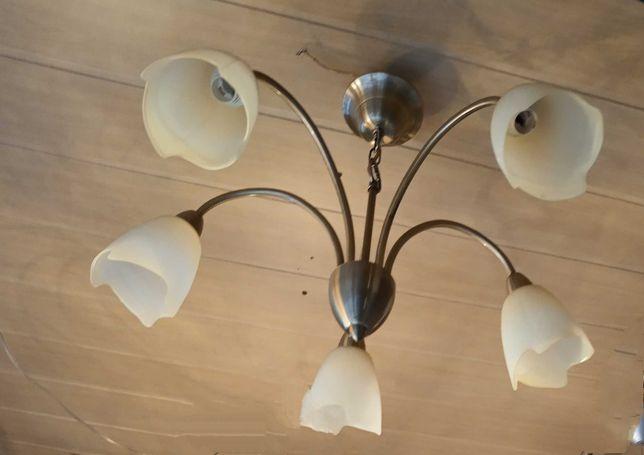 Люстра на 5 ламп. Производство Бельгия.