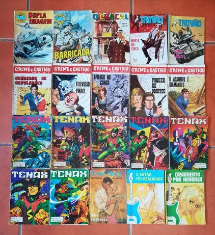 20 livros, Crime e Castigo, Bazuka, Chacal, Tenax, Trovão, Love Story