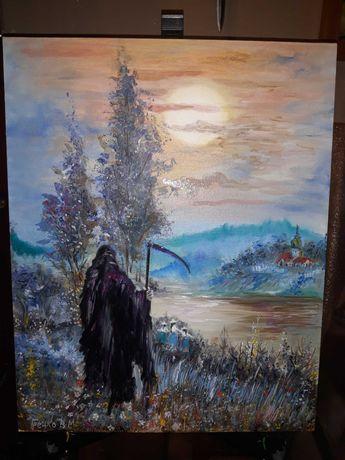 Картина . Написана маслянными красками. Полотно на картоне. 40  * 50см
