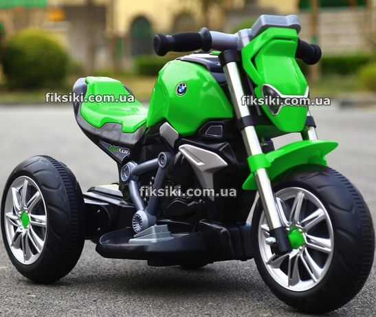 Детский мотоцикл электромобиль 3639 GREEN, Дитячий електромобiль