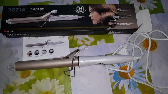 Новая плойка Rozia Hr721 28 мм 50 Вт Белый с золотистым