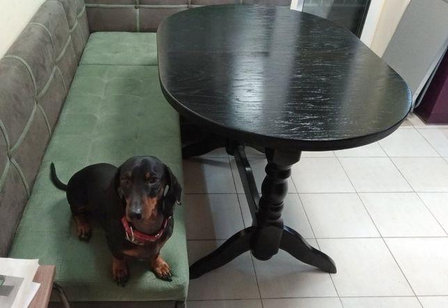 Столы для кухни, Стол овальный на двух ногах 120 х 75 см.