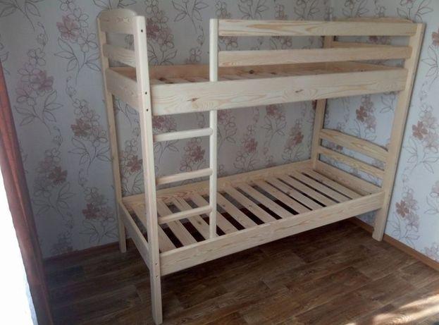 кровать детская деревянная 2этажная , 190*80 см