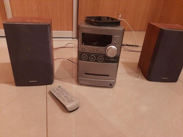 Mini wieża stero - SONY - CD, radio, magnetofon.
