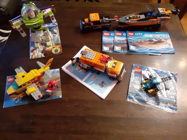 Klocki Lego City śmieciarka, samolot, motorówka,  Toy story