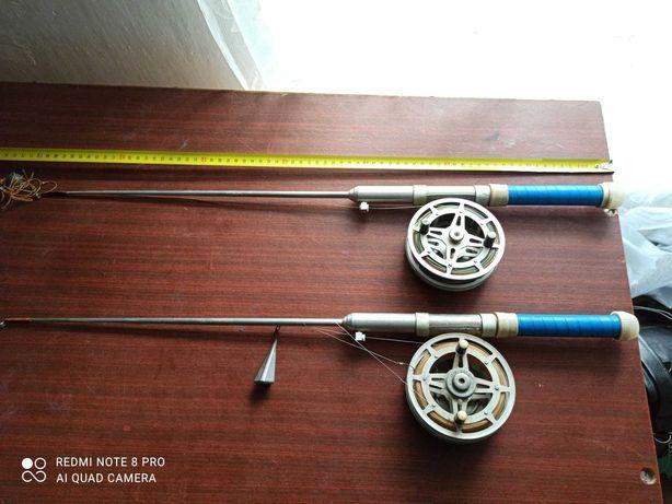 Удочки для зимней рыбалки СССР+ещё одна катушка.450грн.+торг.