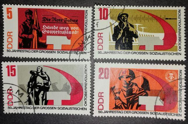 Niemcy DDR Oktober Revoution znaczek / znaczki