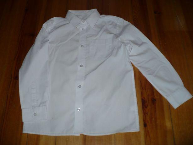 biała koszula f&f rozm 128cm stan bdb minus za mini plamke cena 10zl