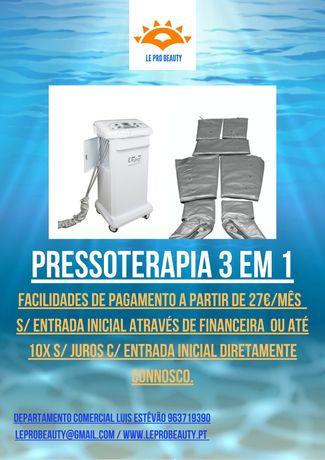 Pressoterapia nova 3 em 1 com Electroestimulação , Garantia