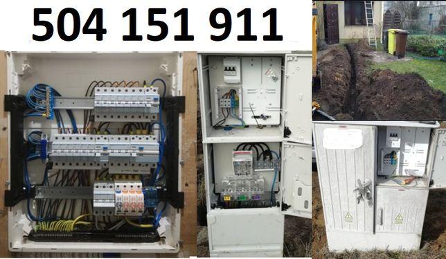 Elektryk, liczniki, upr. E+D, Rbetki, podłączenie płyty indukcyjnej.
