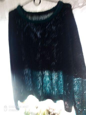 Swetr turkusowy
