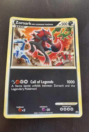 Zoroark and legendary pokemon Carta XL