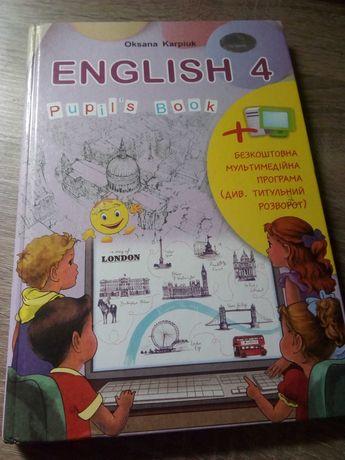 Продам підручник англійська мова 4 клас