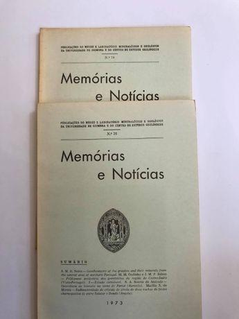 Memória e Notícias - nº74, 1972 e nº76 ,1973 - C.E.G da Univ. Coimbra