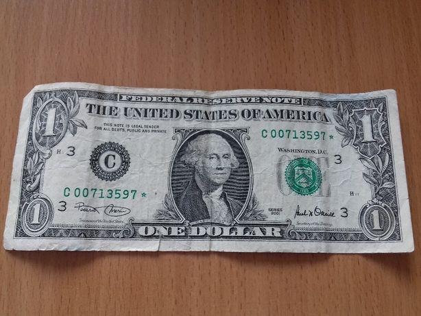 Sprzedam 1 dollar z 2001 r.