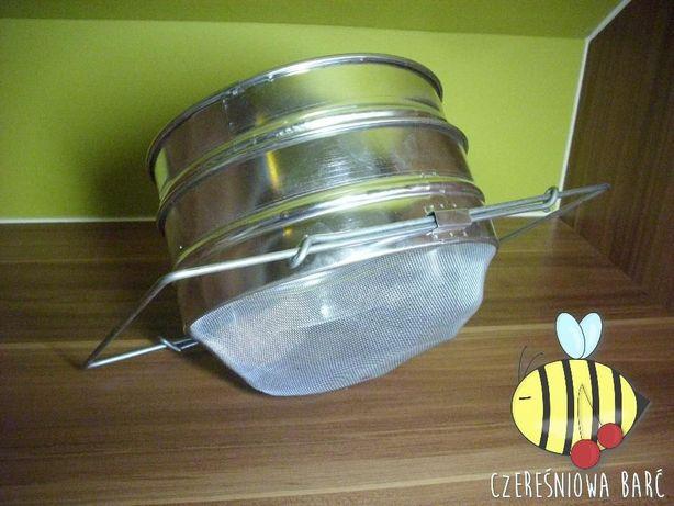 SITO PODWÓJNE metalowe WYPUKŁE do miodu - pszczoły, ule, miód