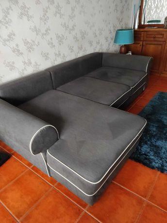 Sofá cama com chaise longue da Conforama