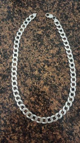 Srebrny łańcuszek męski pancerka