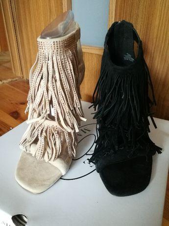 Szpilki sandałki frędzle Steve Madden nowe 38 dł wkł. 24 cm