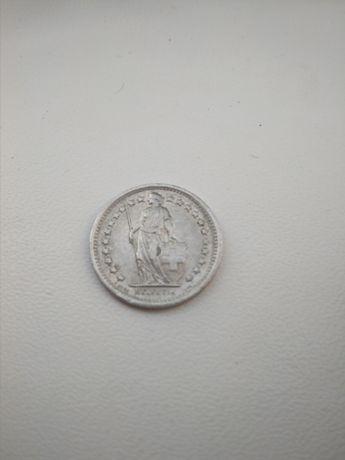 Монета 1/2 Fr.1970года.