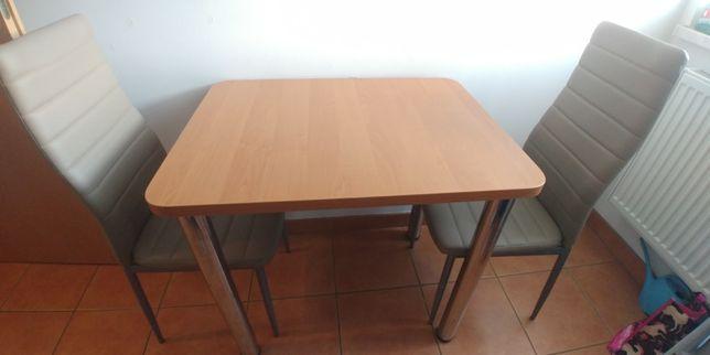 Komplet mały stół kuchenny 80x60cm z 3 krzesłami