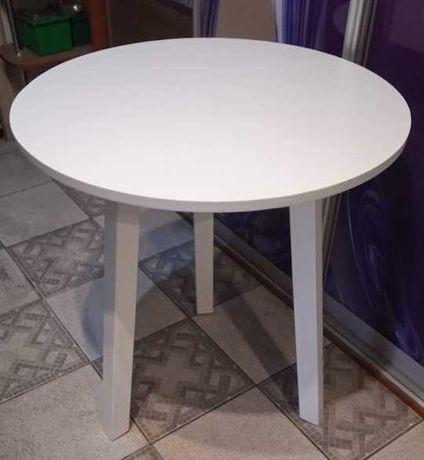 STÓŁ stolik fi 70cm na 3 nogach  cały biały inne kolory