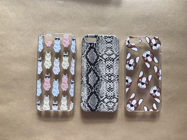 iPhone 5 s SE case w lamy, pieski, wężowy wzór, zwierzęta