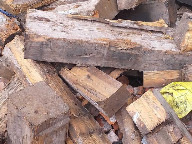 Drewno - belki i deski porozbiórkowe