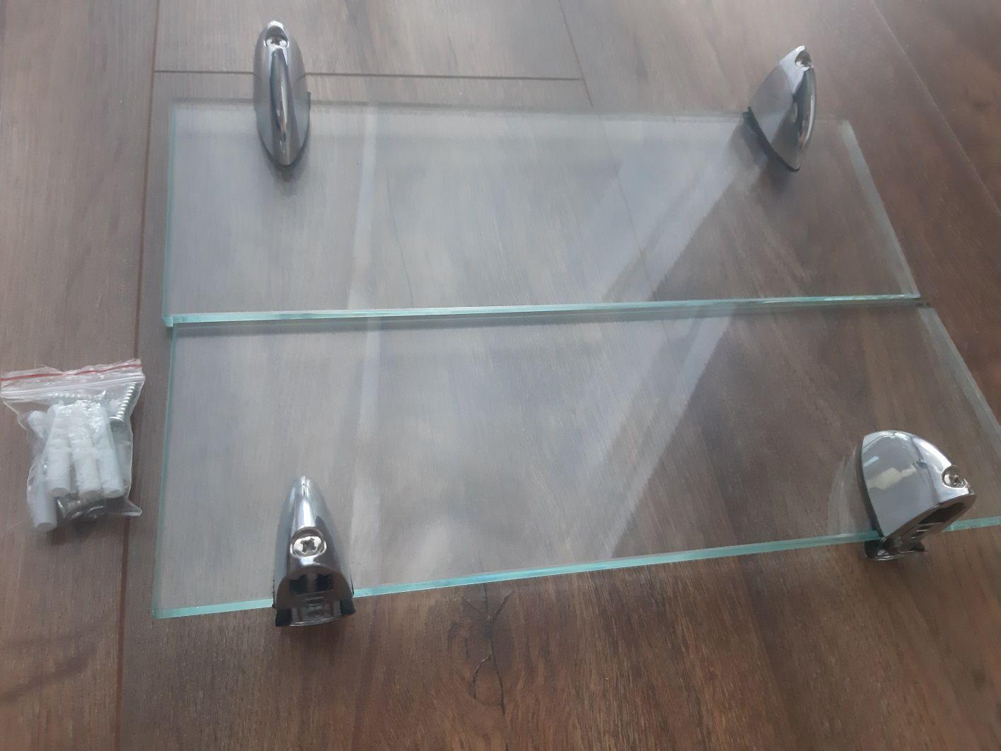 Półka szklana Nowe, wisząca, łazienka, 30cm