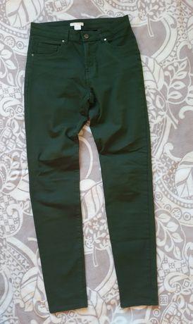 Высокие джинсы H&M 36-38р/ штани брюки hm джинси джеггинсы слим стрейч