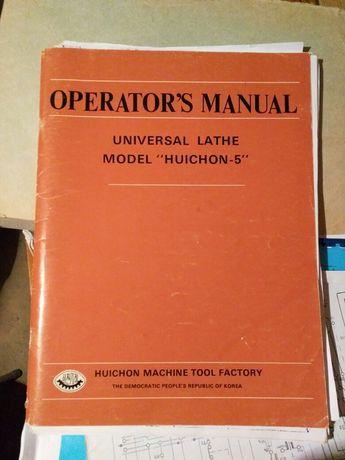 Tokarka Huichon-5 oryginalna instrukcja obsługi