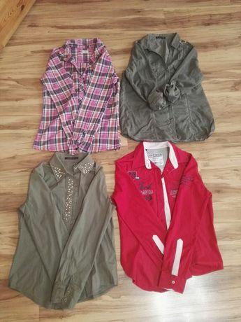 Koszule 4 szt. różowa, czerwona, khaki F&F CAMP DAVID