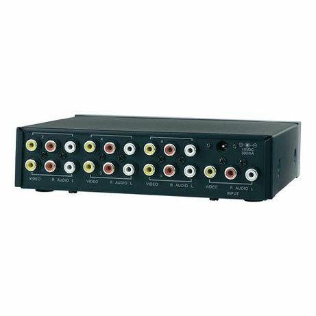 6-portowy rozdzielacz kompozytowy SpeaKa Connect AV-486 czarny