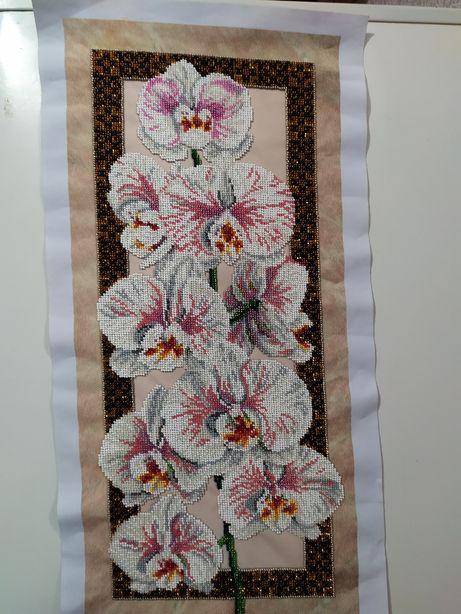 Вышивка бисером Ветка Орхидеи