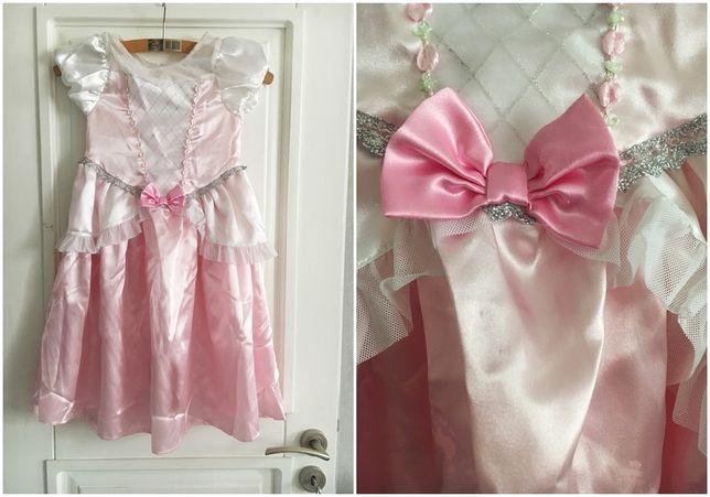 Sukienka księżniczka karnawał bal H&M różowa 110/116 4-6 lat