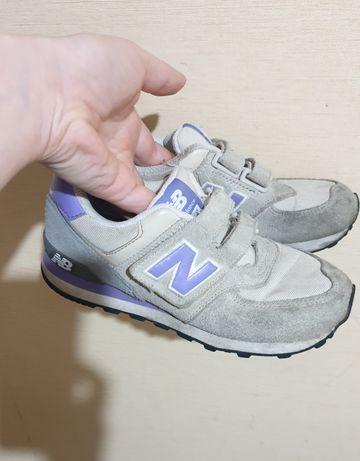 NEW Balance 574 кожаные кроссовки для девочки 32 размер